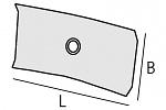 ALSIDENT - 1-503324-6 - ESD flat hood DN 50 / 330 x 240 mm, WL20655