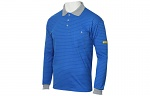 HB SCHUTZBEKLEIDUNG - Conductex PS70-BG-XS-LA - ESD polo shirt for men, long sleeve, WL20313