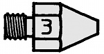 WELLER - T0051353099 - DS 113 HM suction nozzle, outside 2.5 mm, inside 1.2 mm, WL16812