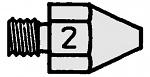 WELLER - T0051353399 - DS 112 HM Suction nozzle, A 1.9 mm, inside 0.9 mm, WL16810