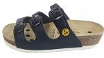 VITAFORM - 3530/BLAU/36 SOHLE WEIß - ESD sandals with 3 straps, full cowhide, ladies, blue, size 36, WL43836
