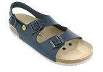 VITAFORM - 3620/BLAU/35 SOHLE WEIß - ESD Sandals Full Cow Leather / Heel Strap, blue-white, 35, WL30260