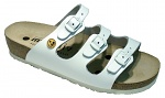 VITAFORM - 3530/WEISS/36 - ESD sandals with 3 straps, full cowhide, ladies, white, size 36, WL10130