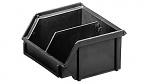 WEZ - 0910.051. - ESD-Sichtlagerkasten, schwarz 95 x 100 x 50, schwarz, WL35713