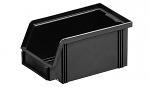 WEZ - 1710.075. - ESD-Sichtlagerkasten, schwarz 175 x 100 x 75, schwarz, WL33950