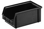 WEZ - 3520.145. - ESD-Sichtlagerkasten, schwarz 350 x 200 x 145, schwarz, WL33948