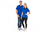 SAFEGUARD - SafeGuard ESD - ESD-Shirt V-Neck royal blue/black, 150g/m², XS, WL35283