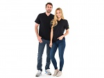 SAFEGUARD - SafeGuard ESD - ESD-Shirt V-neck black, 150g/m², XS, WL35788