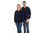 SAFEGUARD - SafeGuard ESD - ESD sweatshirt V-neck navy blue, 280g/m², XS, WL43781