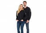 SAFEGUARD - SafeGuard ESD - ESD sweatshirt V-neck black, 280g/m², XS, WL43790