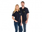 SAFEGUARD - Safeguard PRO PLUS - ESD polo shirt 210g/m² navy blue/black, XS, WL44386