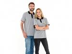 SAFEGUARD - Safeguard PRO PLUS - ESD polo shirt 210g/m² light grey/black, XS, WL31925