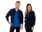 SAFEGUARD - SafeGuard ESD - ESD sweat jacket with zip, navy blue 260g/m², XS, WL44493