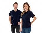 SAFEGUARD - SafeGuard PRO - ESD T-Shirt V-neck blue, breast pocket, 150g/m², XS, WL44559