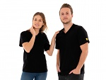 SAFEGUARD - SafeGuard PRO - ESD T-Shirt V-neck black, breast pocket, 150g/m², XS, WL44659