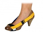 SAFEGUARD - SAFEGUARD ESD - ESD heel strap with clip closure, adjustable, yellow, WL24933