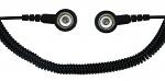 SAFEGUARD - SAFEGUARD ESD - ESD Spiralkabel, 1 Mohm, schwarz, 1,8 m, 10/10 mm Druckknopf, WL24074