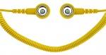 SAFEGUARD - SAFEGUARD ESD - ESD Spiralkabel, 1 Mohm, gelb, 1,8 m, 10/10 mm Druckknopf, WL42062