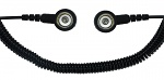 SAFEGUARD - SAFEGUARD ESD PRO - ESD spiral cable, 2 MOhm, black, 1,8 m, 10/10 mm push button, WL42081