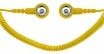 SAFEGUARD - SAFEGUARD ESD PRO - ESD spiral cable, 2 MOhm, yellow, 1.8 m, 10/10 mm push button, WL42082