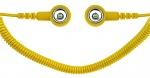 SAFEGUARD - SAFEGUARD ESD PRO - ESD Spiralkabel, 2 MOhm, gelb, 1,8 m, 10/10 mm Druckknopf, WL42082