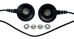 SAFEGUARD - SAFEGUARD ESD - ESD earthing cable, 2 x 10 mm push button female, L = 1,8 m, black, WL42095
