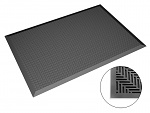 SAFEGUARD - Safeguard ESD - ESD floor mat black, flat studs, 650 x 950 x 14 mm, WL43020