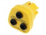SAFEGUARD - Safeguard ESD - ESD Erdungsstecker, 3 x 4 mm Bananensteckerbuchse, gelb, WL42571