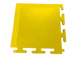 ECOTILE - E55.600 - ESD corner ramp, from 5 mm to 1 mm, yellow, 115 x 115 mm (L x W), WL40031