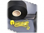 WARMBIER - ecotile Flooring - ESD grounding strap, roll 500 m, black, WL40026