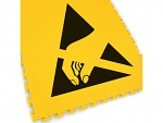ECOTILE - 13.232 - Floor marking tile with ESD logo, yellow, 500 x 500 x 7 mm, WL41342