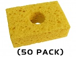 "THERMALTRONICS - SPG-50 - Yellow, Sponge, (3.2"" X 2.1"") (50 PACK), WL37521"