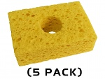"THERMALTRONICS - SPG-5 - Yellow, Sponge, (3.2"" X 2.1"") (5 PACK), WL37520"