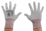 SAFEGUARD - SG-grey-JCA-100-XS - ESD glove grey/berry, without coating, Nylon/Carbon, XS, WL37433
