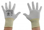 SAFEGUARD - SG-grey-JCA-100-XL - ESD glove grey/yellow, without coating, Nylon/Carbon, XL, WL37437