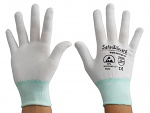 SAFEGUARD - SG-white-JNW-100-M - ESD glove white/turquoise, without coating, M, WL36568