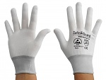 SAFEGUARD - SG-white-JNW-100-L - ESD glove white/light grey, without coating, L, WL36569