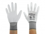 SAFEGUARD - SG-white-JNW-302-XXL - ESD glove white/grey, coated palms, nylon/carbon, XXL, WL40767