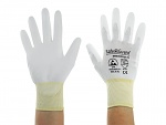 SAFEGUARD - SG-white-JNW-302-XL - ESD glove white/yellow, coated palms, nylon/carbon, XL, WL40766