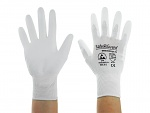SAFEGUARD - SG-white-JNW-302-S - ESD glove white, coated palms, nylon/carbon, S, WL40763