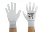 SAFEGUARD - SG-white-JNW-302-L - ESD glove white/light grey, coated palms, nylon/carbon, L, WL40765