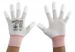 SAFEGUARD - SG-white-JNW-202-XS - ESD glove white/orange, coated fingertips, XS, WL37427