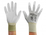 SAFEGUARD - SG-grey-JCA-302-XL - ESD glove grey/yellow, coated palms, nylon/carbon, XL, WL39625