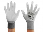 SAFEGUARD - SG-grey-JCA-302-XXL - ESD glove grey/dark grey, coated palms, nylon/carbon, XXL, WL39626