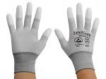 SAFEGUARD - SG-grey-JCA-202-XXL - ESD glove grey/dark grey, coated fingertips, nylon/carbon, XXL, WL36566