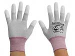 SAFEGUARD - SG-grey-JCA-202-XS - ESD glove grey/berry, coated fingertips, nylon/carbon, XS, WL36846