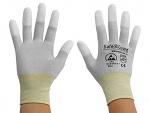 SAFEGUARD - SG-grey-JCA-202-XL - ESD glove grey/yellow, coated fingertips, nylon/carbon, XL, WL36565
