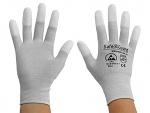 SAFEGUARD - SG-grey-JCA-202-S - ESD glove grey/white, coated fingertips, nylon/carbon, S, WL36562