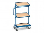 FETRA - 32911 - Side trolley, 3 shelves, inclinable, 200 kg, 605 x 405 mm, WL39841