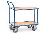 FETRA - 2600 - Table trolley, 2 wooden shelves, 400 kg, 850 x 500 mm, WL39806